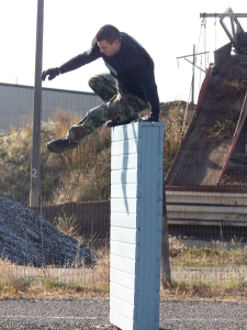 Training-Jumping Over Wall
