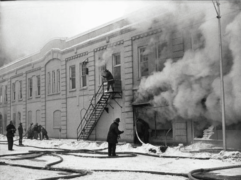 Ormesher Grocery Store Fire on Main street, 12/30/1951