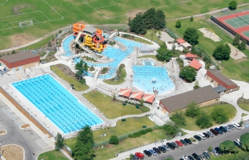 Aerial photo of Splash Montana